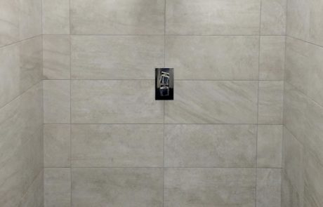 Ceramic tiled shower installation