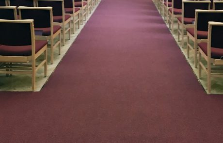 Westex Talana 80-20 wool-nylon in Claret for Ardsley Crematorium