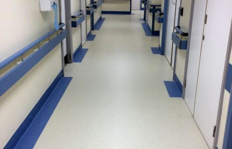 Hospital ward flooring for Barnsley District General Hospital
