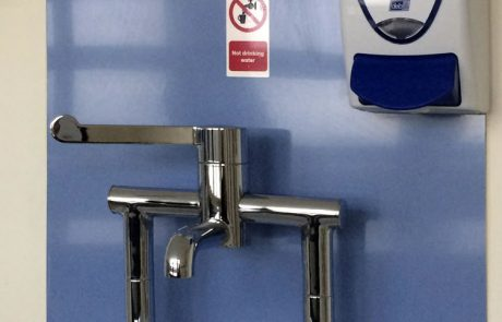 Hygienic vinyl wall protection for Barnsley District General Hospital