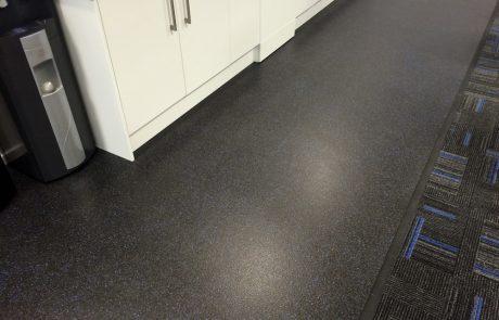 Polysafe non-slip vinyl flooring, Vogue Ultra Galactic, VolkerRail, Doncaster