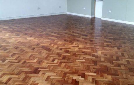 Timber parquet flooring