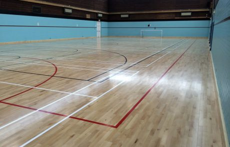 Timber sports hall flooring