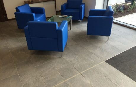 Reception area floor tiles