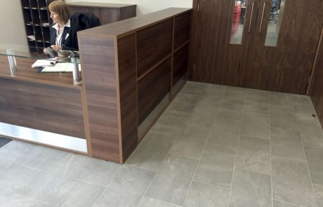 Slate effect porcelain tiles