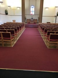Ardsley Crematorium in Barnsley - the finished floor covering.