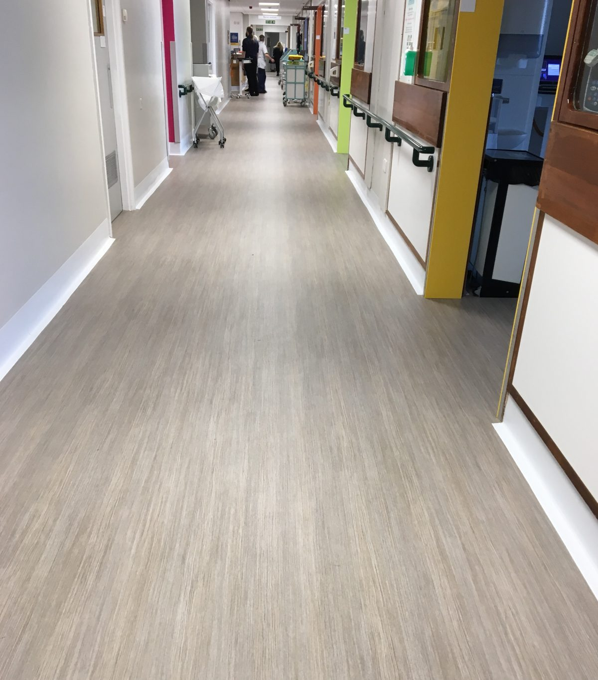 A Cumberlidge install Polyflor vinyl flooring in dementia friendly ward at Royal Hallamshire hospital in Sheffield