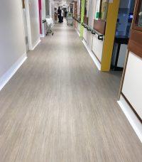 A Cumberlidge install Polyflor vinyl flooring in dementia friendly ward at Royal Hallamshire hospital in Sheffield