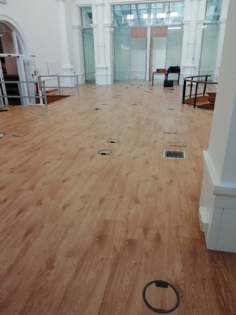After: The finished result. The transformed retail space ready for the client to move in.