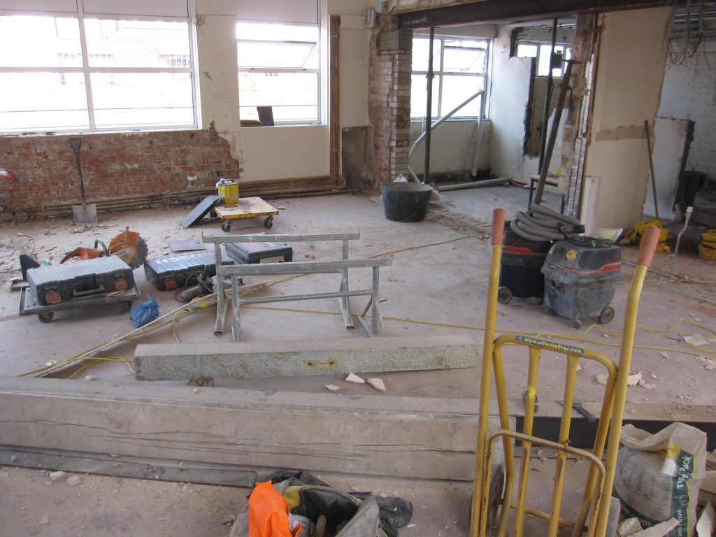 Substantial structural work was required before any new floor coverings could be laid