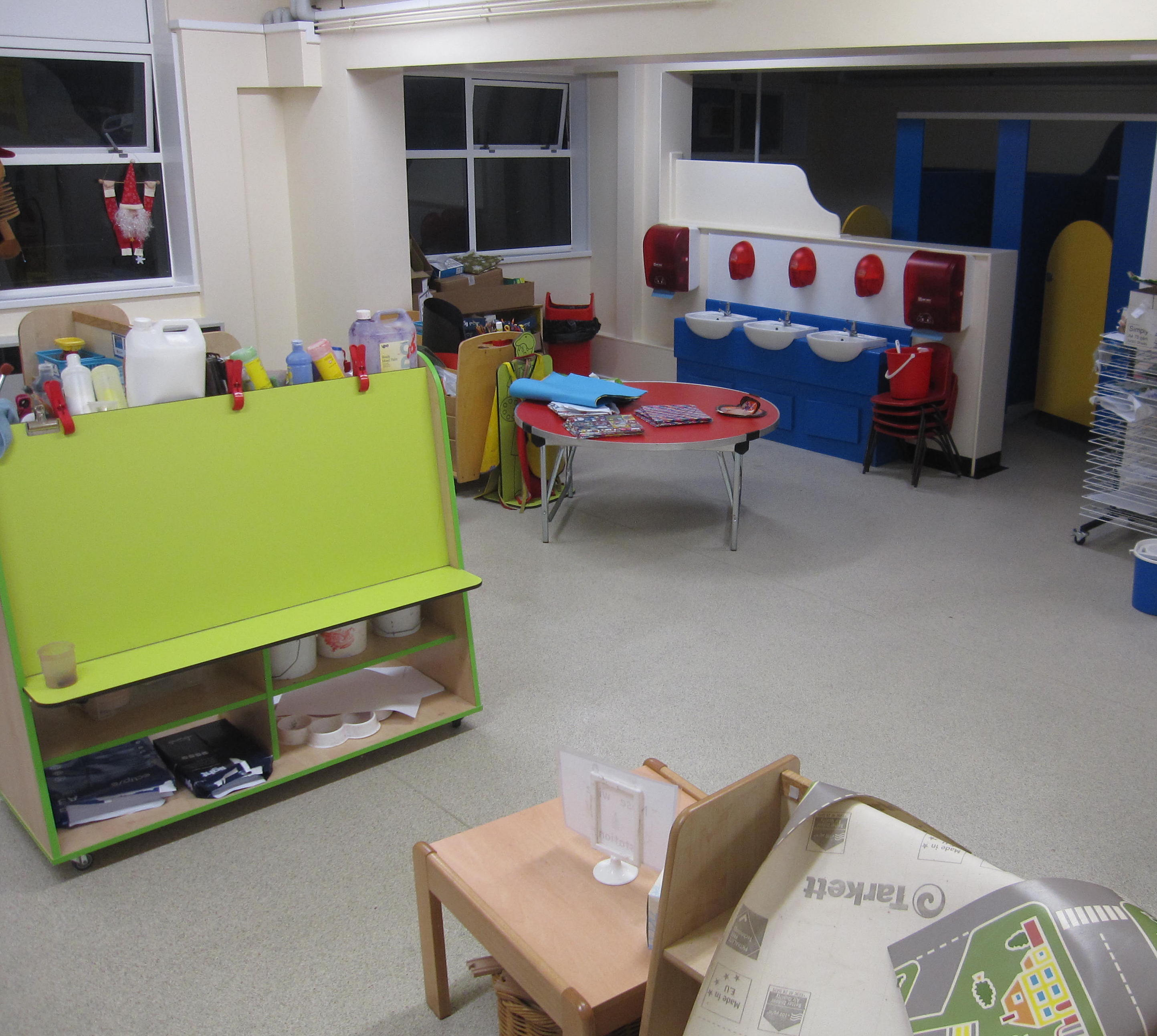 After: the classroom is once again fit for purpose