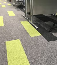 A Cumberlidge install new flooring throughout the new Patients' Booking Hub for Sheffield Teaching Hospitals NHS Foundation Trust