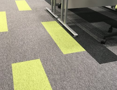 Carpet tile design style for new Patients' Booking Hub