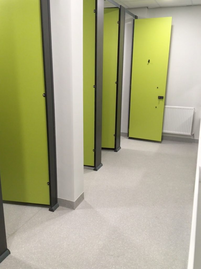 Toilet areas where the A Cumberlidge team installed Altro Suprema sheet vinyl