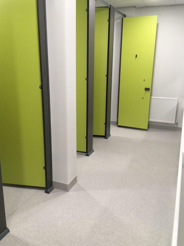 Toilet areas where the A Cumberlidge team installed Altro Suprema sheet vinyl