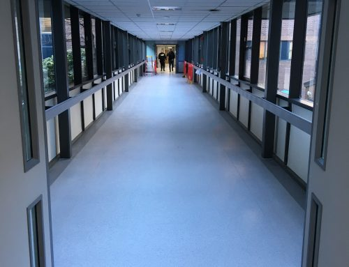Corridor transformed with new floor covering
