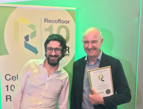 Picking up our Bronze at the Recofloor Awards!