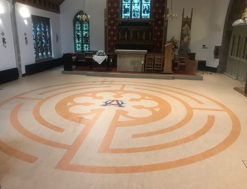Flooring splendour for 13th century church