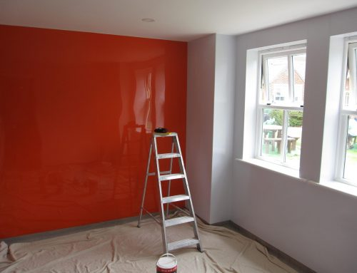 Feature wall replacement at the Hesley Village