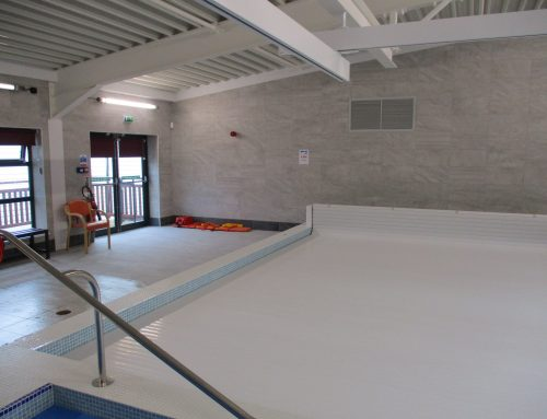 Refreshing floor for new school pool