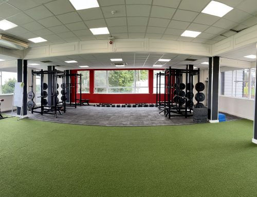 New flooring at Sheffield United FC's new training centre